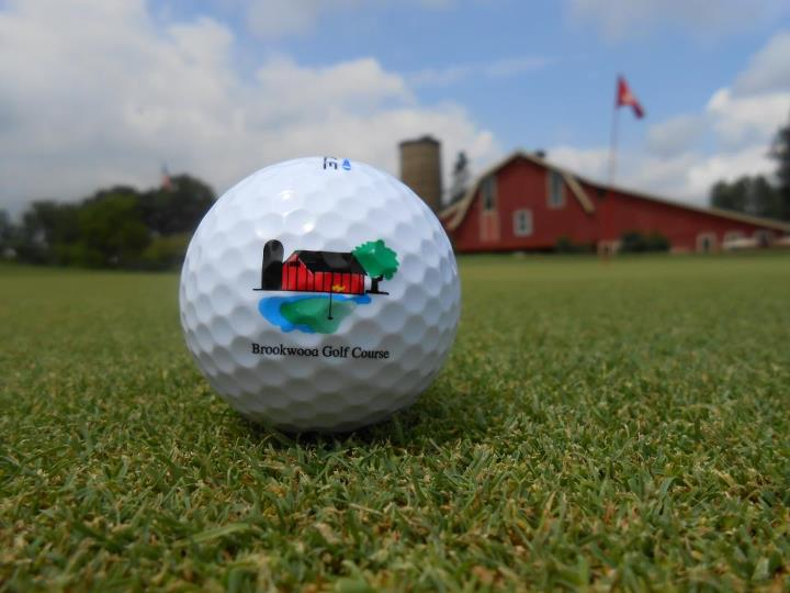 Golf Ball with Brookwood Golf Course Logo